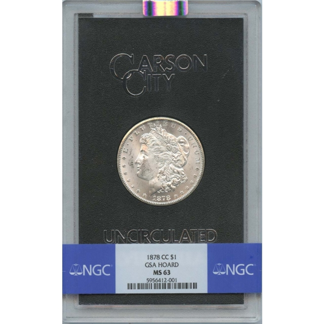 1878-CC Morgan Dollar GSA HOARD S$1 NGC MS63