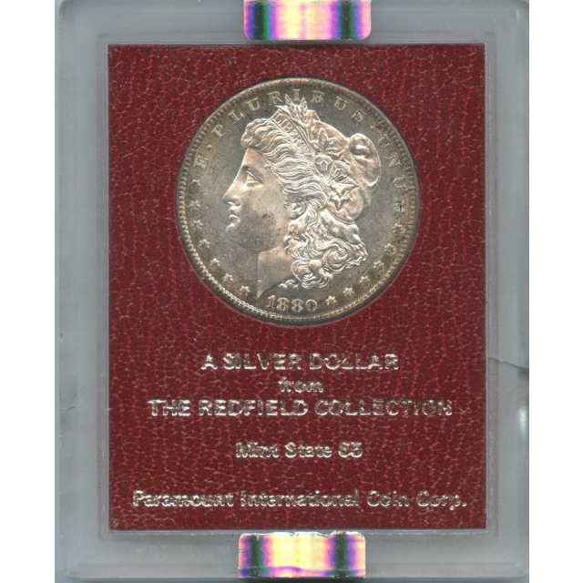 1880-S $1 Morgan Dollar Redfield Collection NGC MS64