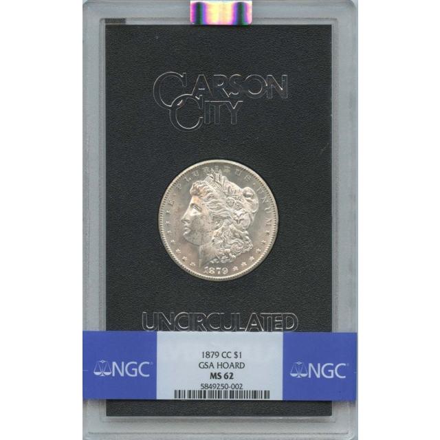 1879-CC Morgan Dollar GSA HOARD S$1 NGC MS62