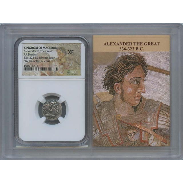 336-323 BC Alexander III Drachm Kingdom Macedon NGC XF40 Lifetime Story Vault