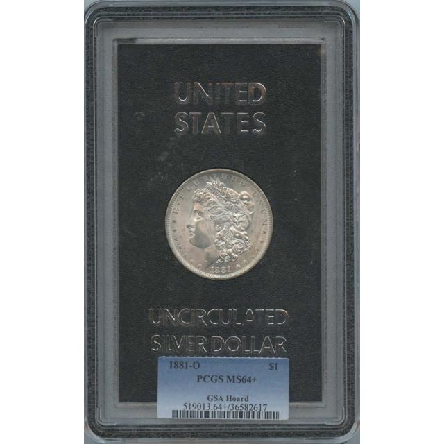 1881-O Morgan Dollar GSA Hoard $1 PCGS MS64+