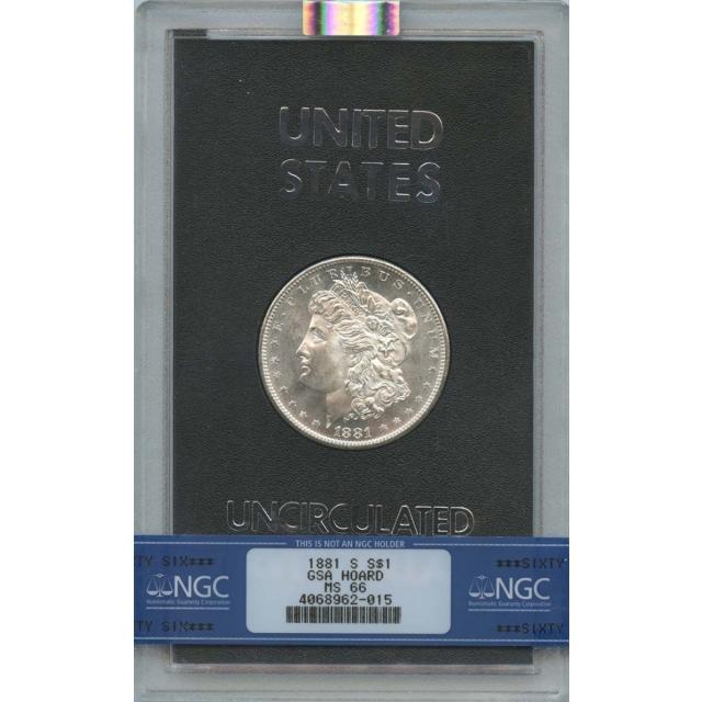 1881-S Morgan Dollar GSA HOARD S$1 NGC MS66