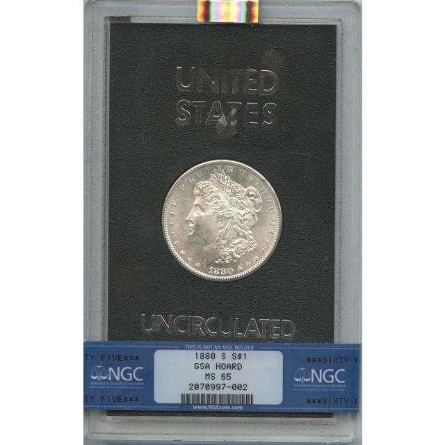 1880-S Morgan Dollar GSA HOARD S$1 NGC MS65