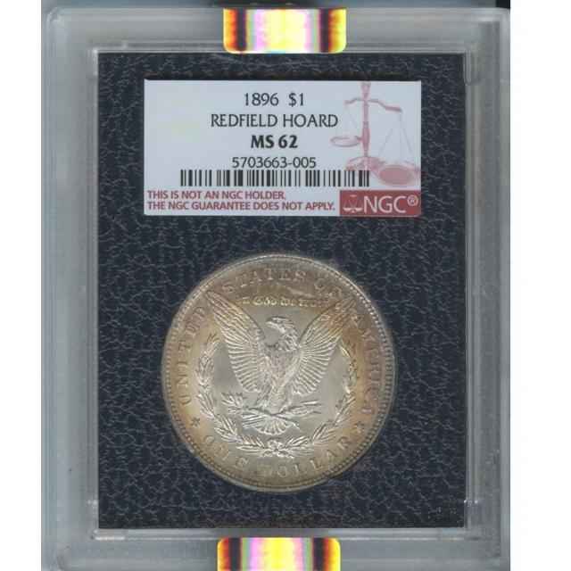 1896 $1 Morgan Dollar Redfield Hoard NGC MS62
