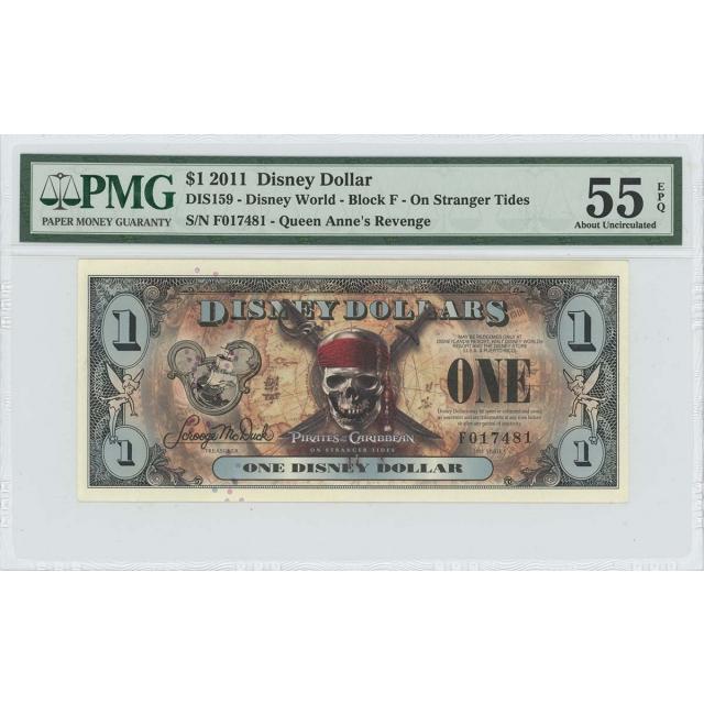 2011 $1 Disney Dollar DIS159 PMG 55 EPQ