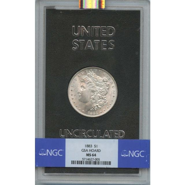 1883 Morgan Dollar GSA HOARD S$1 NGC MS64