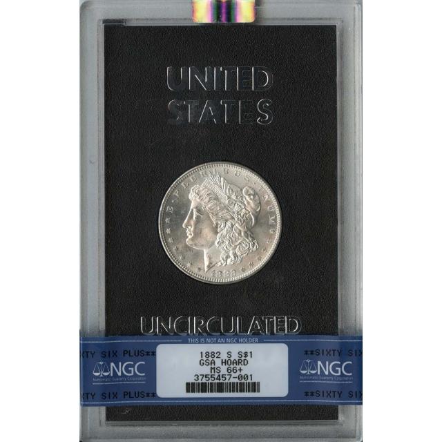 1882-S Morgan Dollar GSA HOARD S$1 NGC MS66+