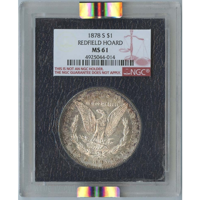 1878-S $1 Morgan Silver Dollar Redfield Hoard NGC MS61