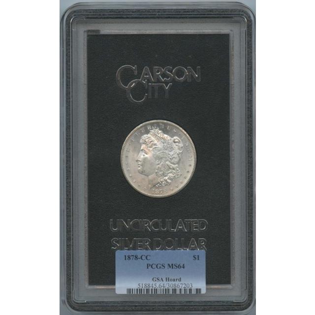 1878-CC Morgan Dollar GSA Hoard S$1 PCGS MS64
