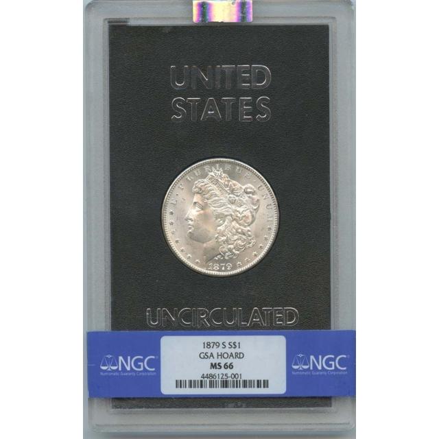1879-S Morgan Dollar GSA HOARD S$1 NGC MS66