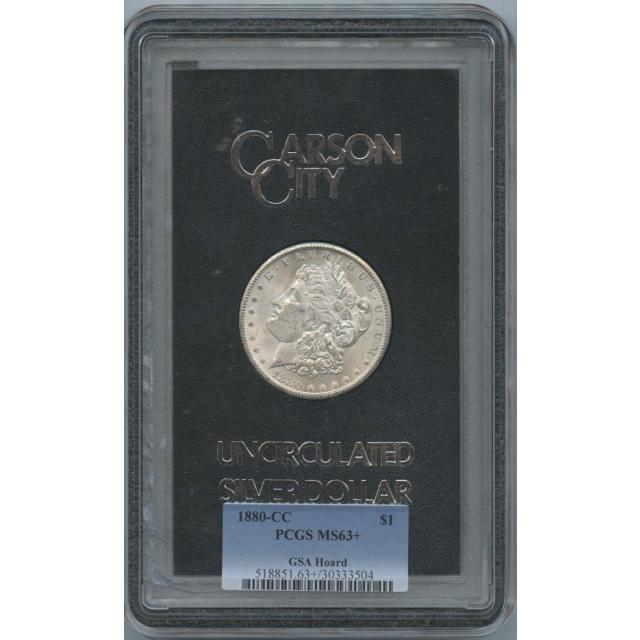 1880-CC Morgan Dollar $1 GSA Hoard PCGS MS63+
