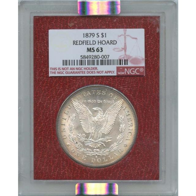 1879-S $1 Morgan Dollar Redfield Hoard NGC MS63