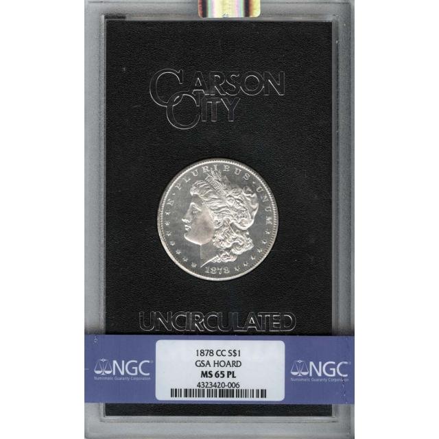 1878-CC Morgan Dollar GSA S$1 NGC MS65PL