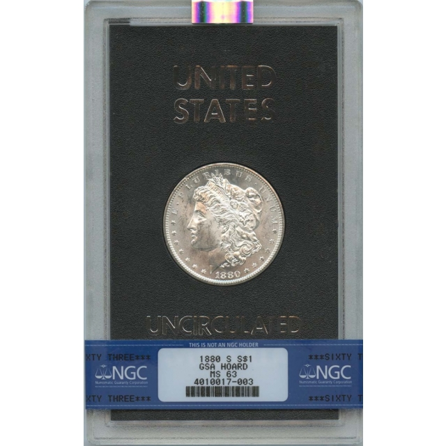 1880-S Morgan Dollar GSA HOARD S$1 NGC MS63