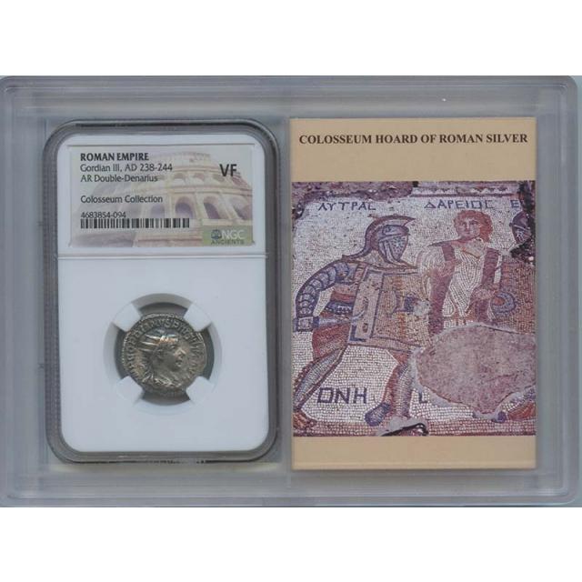 Gordian III AD 238-244 ROMAN Double-Denarius NGC VF20 Story Vault