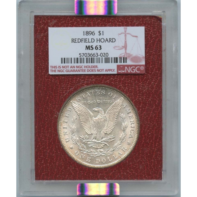 1896 $1 Morgan Dollar Redfield Hoard NGC MS63