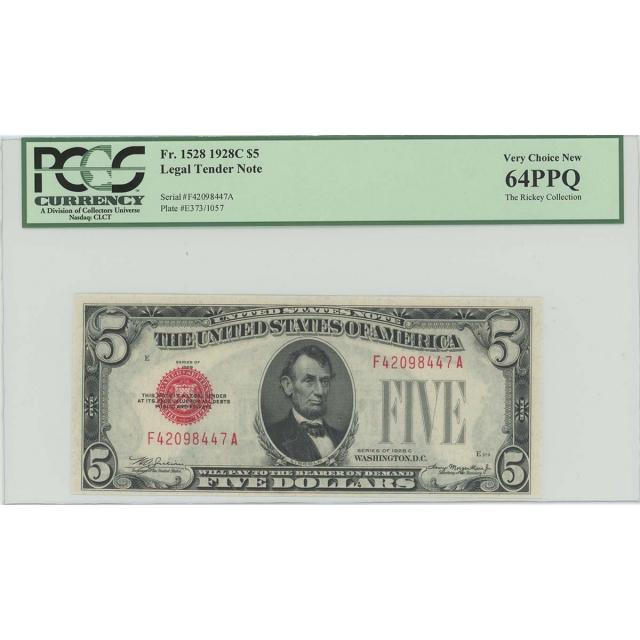 1928C $5 Legal Tender FR#1528 PCGS 64 Very Choice PPQ