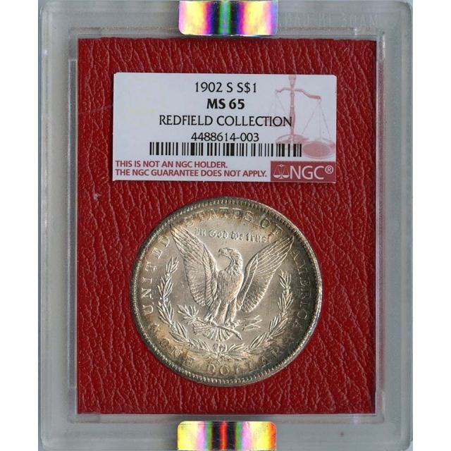1902-S Morgan Dollar S$1 NGC Redfield Hoard MS65 Top Pop