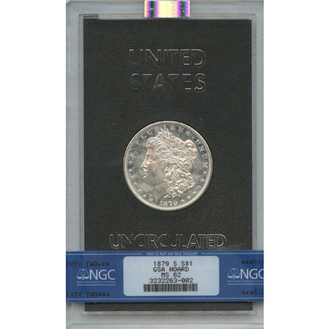 1879-S Morgan Dollar GSA HOARD S$1 NGC MS62