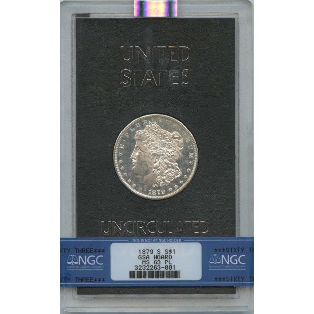 1879-S Morgan Dollar GSA HOARD S$1 NGC MS63PL
