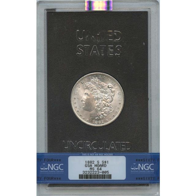 1882-S Morgan Dollar GSA HOARD S$1 NGC MS64