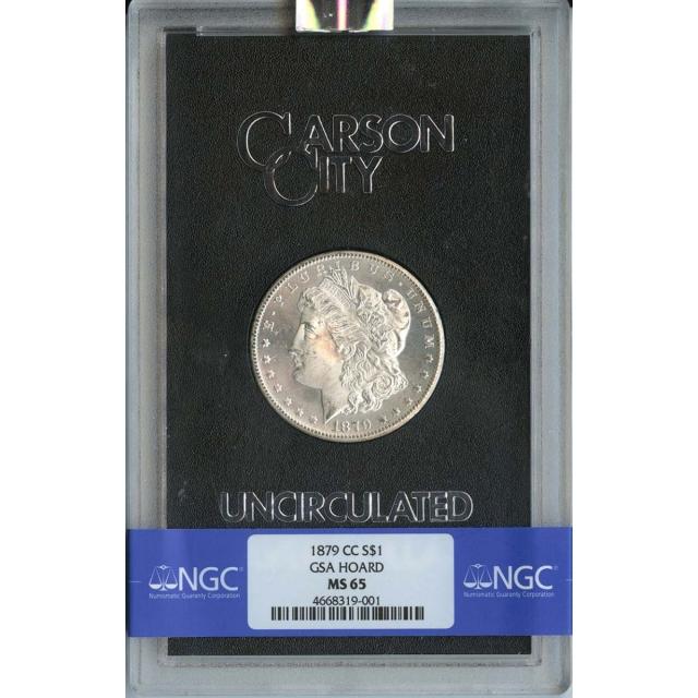 1879-CC Morgan Dollar GSA HOARD S$1 NGC MS65