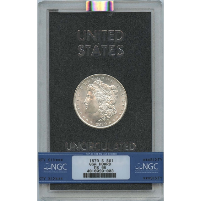 1879-S Morgan Dollar GSA Hoard NGC MS66