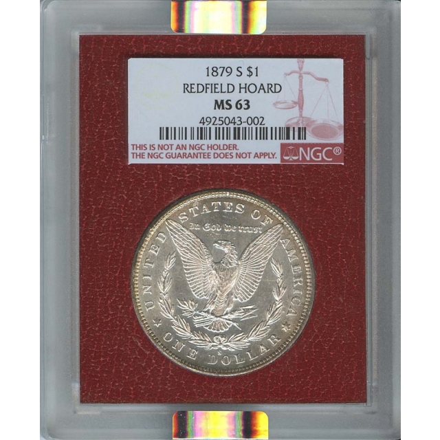 1879-S $1 Morgan Dollar NGC MS63 Redfield Collection