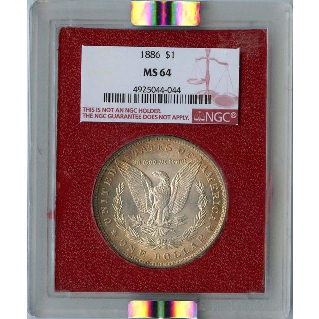 1886 Morgan Dollar S$1 NGC MS64 Paramount
