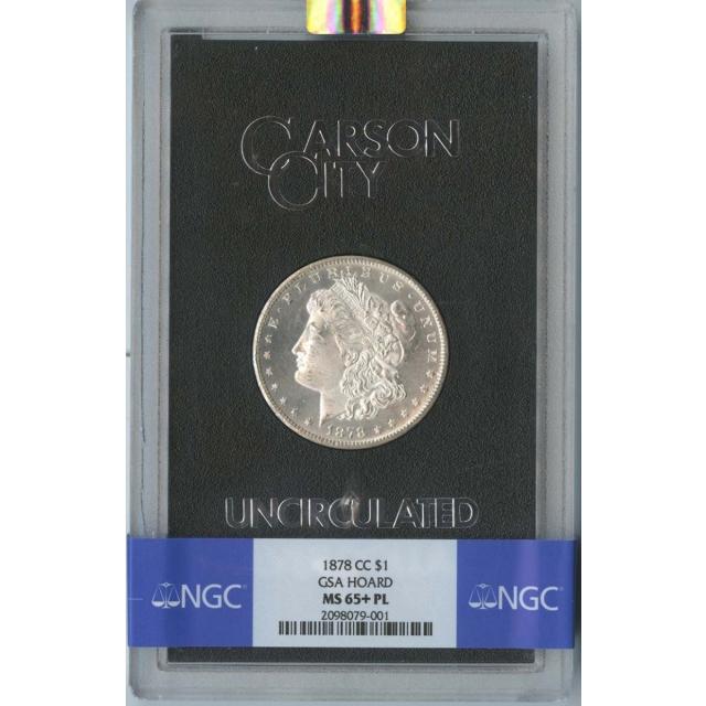 1878-CC Morgan Dollar GSA HOARD S$1 NGC MS65+PL
