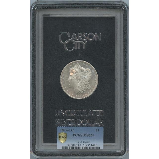 1879-CC Morgan Dollar GSA Hoard S$1 PCGS MS63+