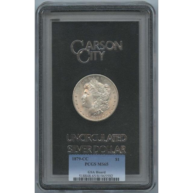1879-CC Morgan Dollar GSA Hoard S$1 PCGS MS65