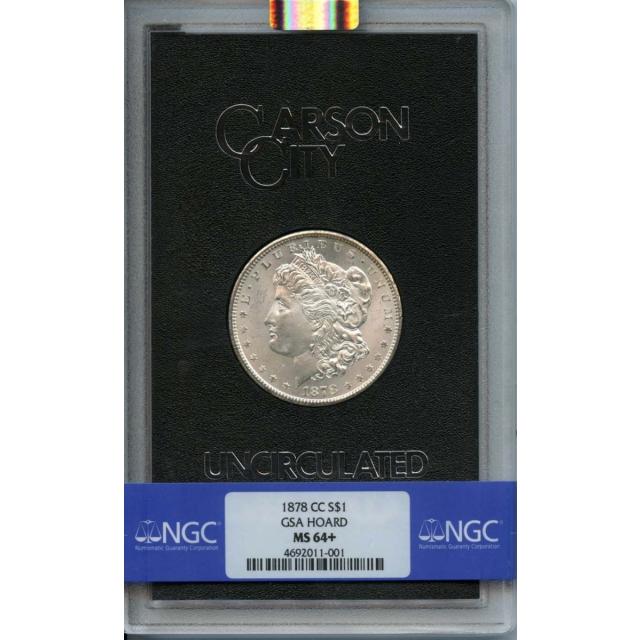 1878-CC Morgan Dollar GSA HOARD S$1 NGC MS64+