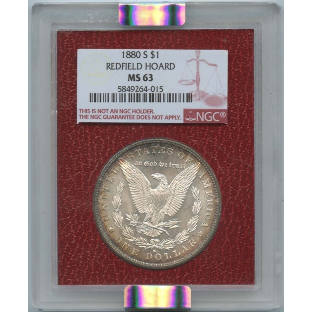 1880 S$1 Morgan Dollar Redfield Hoard NGC MS 63