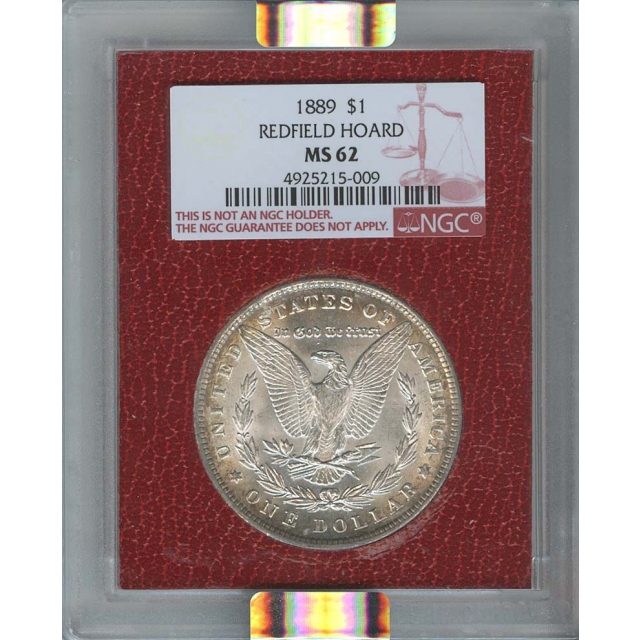 1889 $1 Morgan Dollar NGC MS62 Redfield Collection