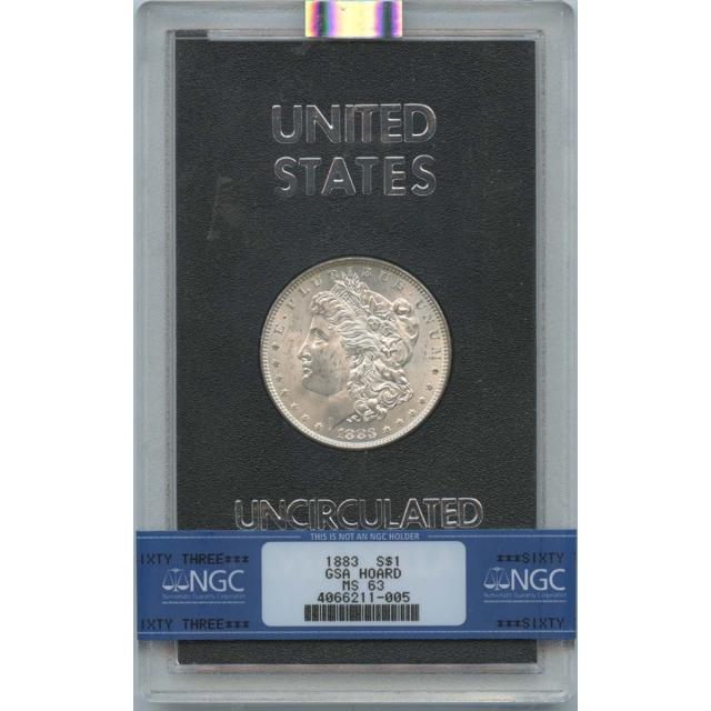 1883 $1 Morgan Dollar GSA NGC MS63