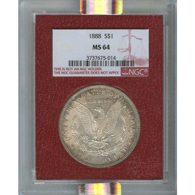 1888 Morgan Dollar S$1 NGC MS64 Paramount