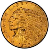 Indian Half Eagles 1908-1929