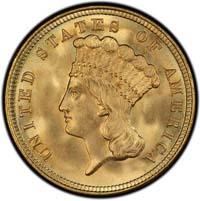 Three Dollar Gold Pieces