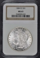 1884-CC Morgan Dollar S$1 NGC MS65