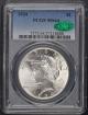 1934 $1 Peace Dollar PCGS MS64 (CAC)