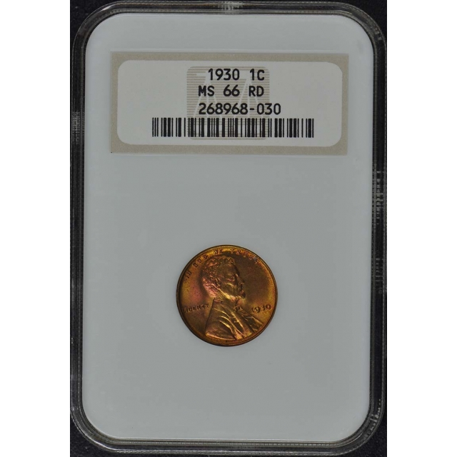 1930 Wheat Reverse Lincoln Cent 1C NGC MS66RD Brick