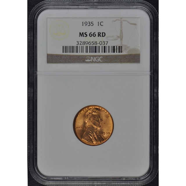 1935 Wheat Reverse Lincoln Cent 1C NGC MS66RD