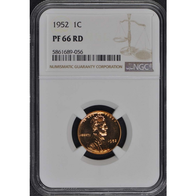 1952 Wheat Reverse Lincoln Cent (Proof) 1C NGC PR66RD