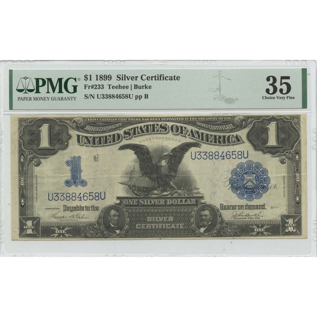 1899 $1 Silver Certificate Fr# 233 PMG CH VF35