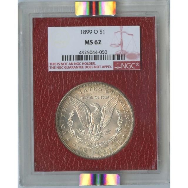1899-O Morgan Dollar S$1 NGC MS62 Paramount