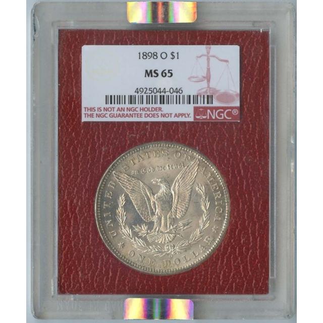 1898-O Morgan Dollar S$1 NGC MS65 Paramount