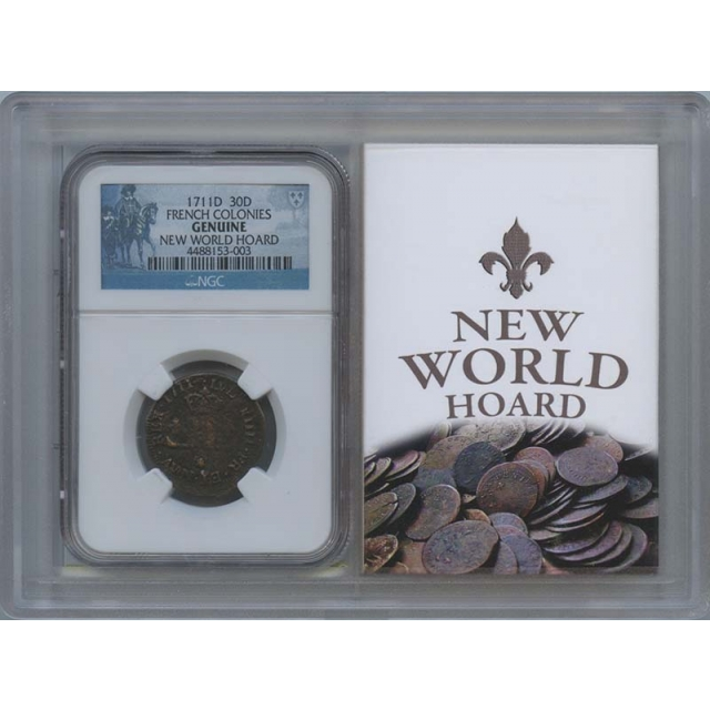1711D FRENCH COLONIES 30D NGC MS0
