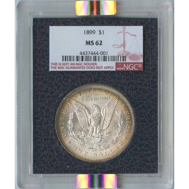1899 Morgan Dollar S$1 NGC MS62 Paramount Black