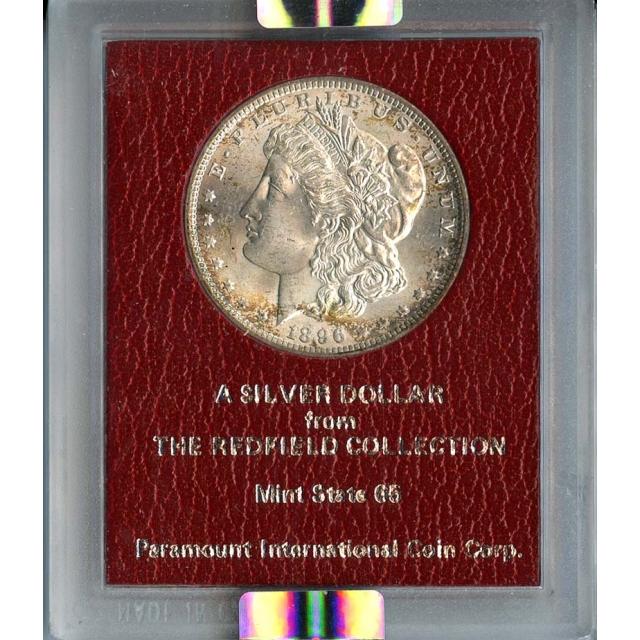 1896 $1Redfield Hoard Morgan Dollar NGC MS62